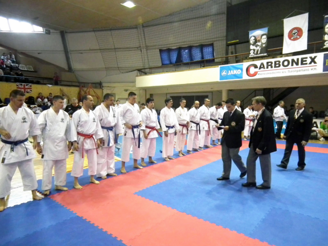 Line up for Kumite Competition