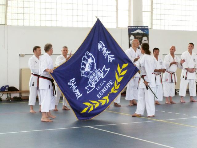 Flag wit European Goku-kai Emblem