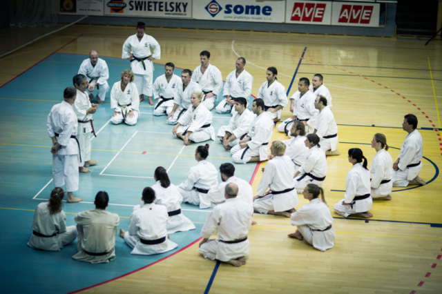 Karate Training in a Hall