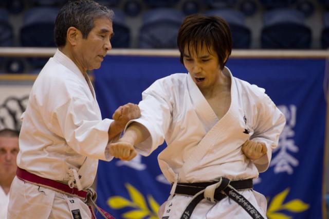 Goshi and Gohei Yamaguchi showing Bunkai Kata